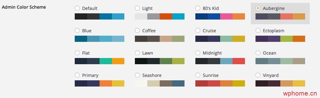 WordPress后台自定义配色插件:Admin Color Schemer