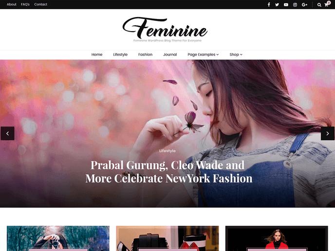 WordPress免费且别致的博客主题 Blossom Feminine